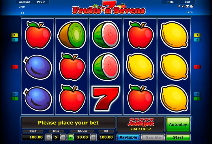 Fruints'n Sevens,made my Novomatic, is a popular video slot, which has 5 reels and 5 lines. This free slot has a risk game. It means that during the game your win points can be multiplied twice for each correct answer. And don't forget about the bonus round.