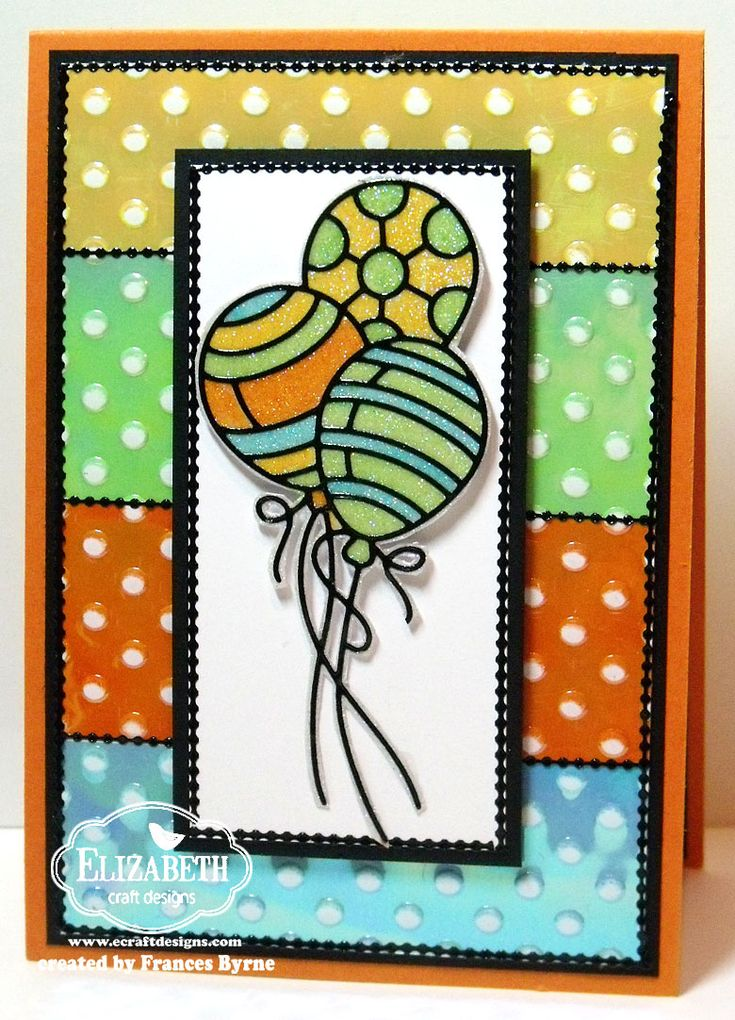 Frances Byrne made this colorful Balloon Happy Birthday Card using the Balloon Peel-Offs, Silk Microfine Glitter and different colors Shimmer Sheetz. Visit our blog for instructions.  http://ecraftdesignsblog.com/2014/05/balloon-happy-birthday/