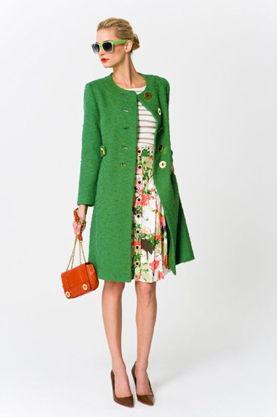 THE COAT!!!Fashion, Floral Prints, Style, Green Coats, Colors Pattern, Outfit, Millie Coats, Vintage Inspiration, Bright Colors
