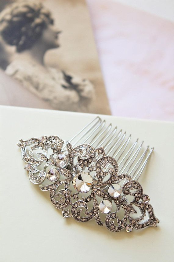 Art Deco Wedding Hair Clip Vintage Style Bridal Hair Comb Etsy Vintage Wedding Hair Vintage Hair Pieces Wedding Hair Clips