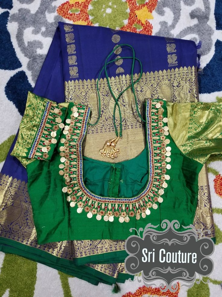 kanchipattu bigborder saree paired with heavy kasu work blouse. reach me at 813-812-9004 https://www.facebook.com/sricouture/