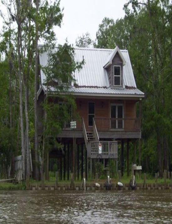 Swamp House On Stilts Cabin In Lacombe Pinterest
