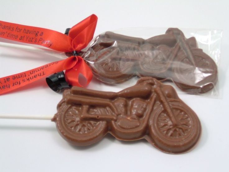 If its a motorcycle theme -- Chocolate Motorcycle Party Favors $2.80