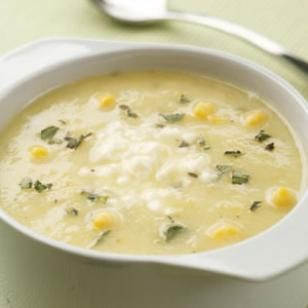 Low Calorie Golden Summer Squash & Corn Soup from eatingwell.com.  Only 111 calories a cup.