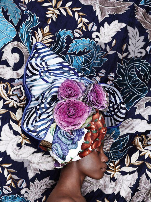 Russian Photographer Olga Volkova Tuponogova #turban #patterns #printpattern…