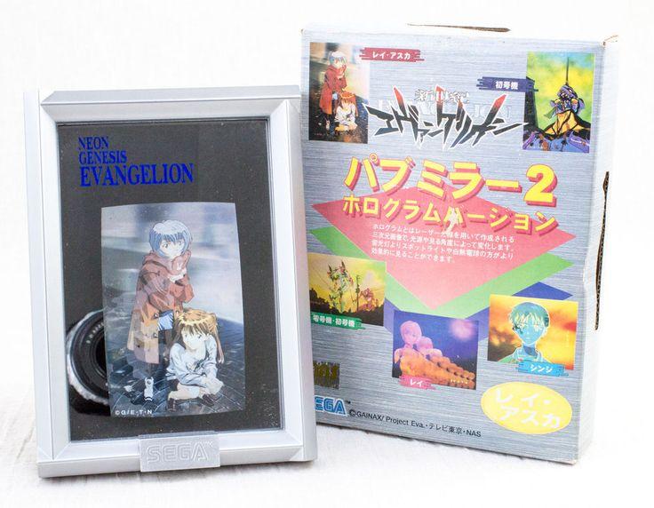 Evangelion Hologram Picture Mirror Rei Ayanami & Asuka Ver. SEGA JAPAN ANIME