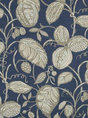 Robert Allen fabric Cedar Park in Calypso Blue #interiordesign #textiles
