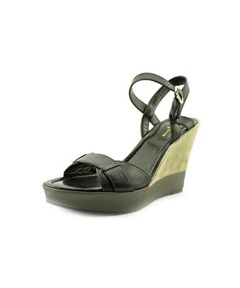 Cole Haan Paley High.Wedge Women  Open Toe Leather  Wedge Sandal