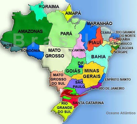 Mapa do Brasil por Estados.
