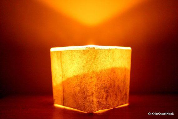 Handmade Brick Effect Candle/ votive holder by KnicKnackNook, $8.00