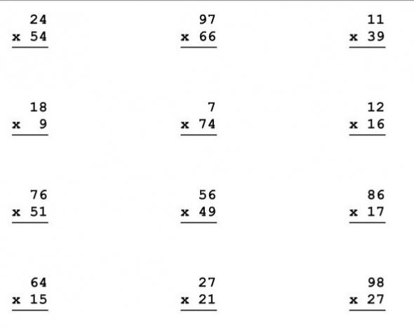 Worksheets Hard Multiplication Worksheets hard multiplication worksheets abitlikethis 2 digit problems in this