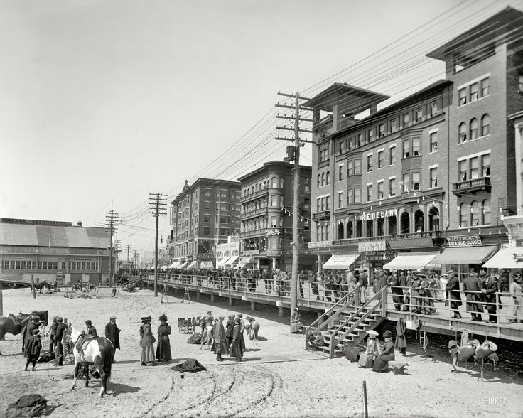 (c. 1911) Savoy Theatre, Schlitz & Young's hotels - Atlantic City, New Jersey