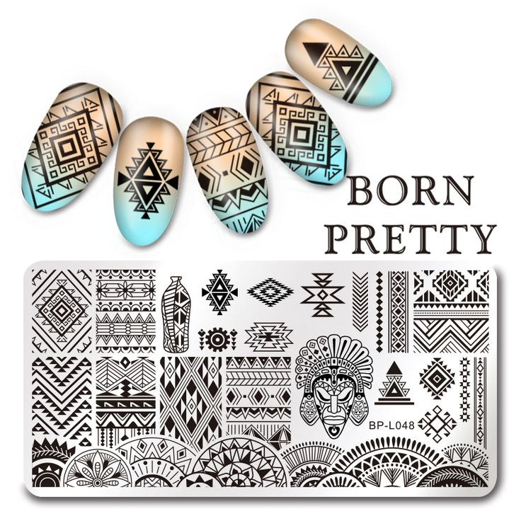 Nail Art Stamping Stickers with Aztec Design //Price: $9.95 & FREE Shipping //     #eyeshadow #lipstick