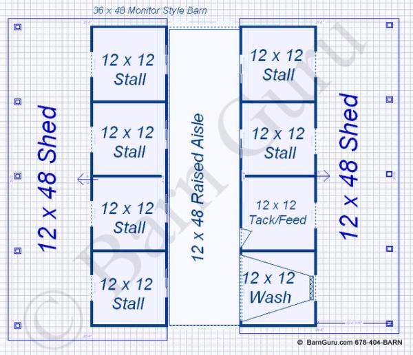 Floor plan horse barn 6 stall horse barn pinterest for 4 stall horse barn plans