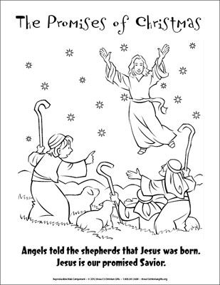 The Promises of Christmas Coloring
