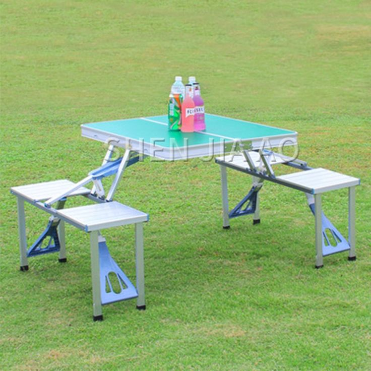 Outside Folding Desk Aluminum Alloy Piece Desk Moveable Desk And Chair Tenting Picnic Moveable Mixture Desk And Chair