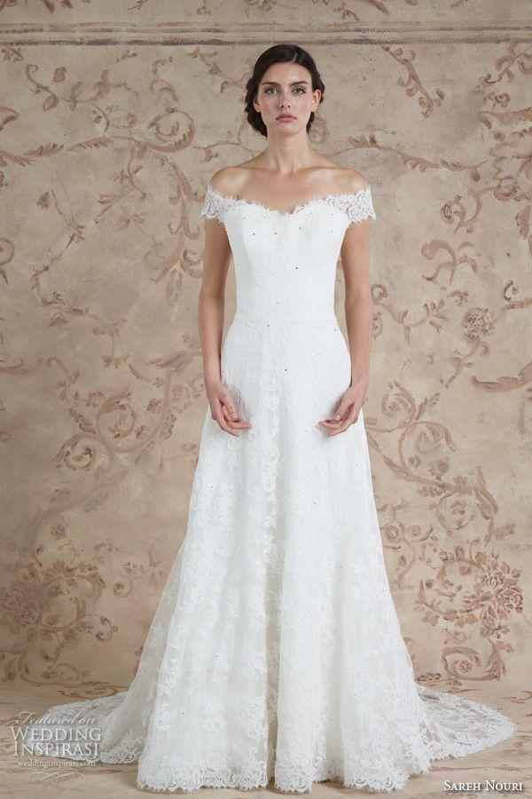 sareh nouri fall 2016 bridal off the should beautiful a  line wedding dress style aryanna