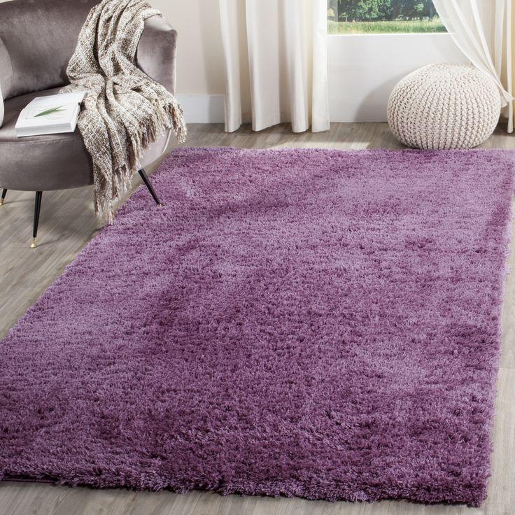 Safavieh Indie Purple Shag Rug (3' x 5') (SGI320P-3), Size 3' x 5' (Polyester, Geometric)