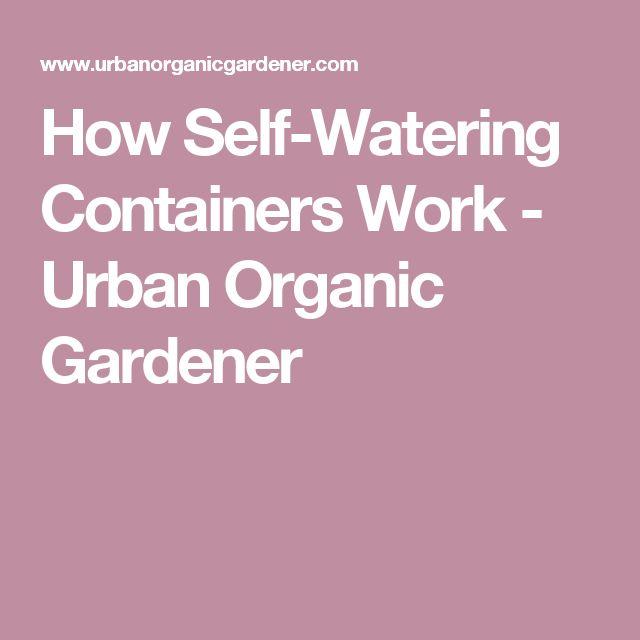How Self-Watering Containers Work - Urban Organic Gardener