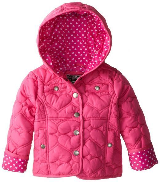 YMI Baby-Girls Infant Quilted-Heart Jacket with Hood