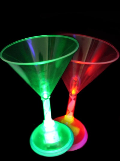 Flashing Martini Glasses
