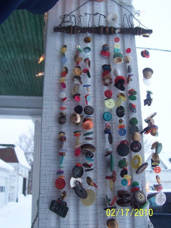 Made when ordered Button Chime with Upcycled by creationdesigns
