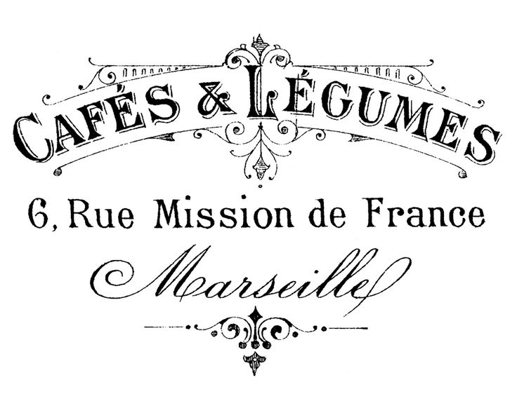 French Transfer Printable - Typography - Marseille - The Graphics Fairy