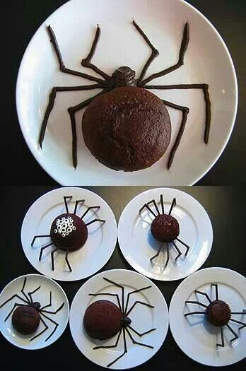 Wouldn't have thought a chocolate cupcake could look that freaky!