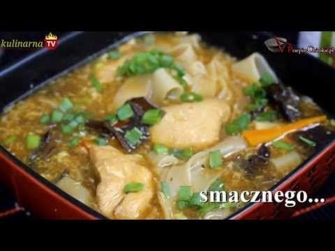 Zupa z Kurczakiem, Grzybami i Makaronem Ryżowym - Chińskie Przepisy - Orientalny Serwis