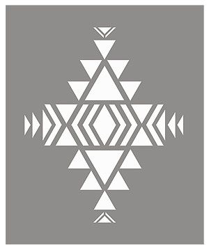 Above - shows the layout of the stencil sheet of the Small Navajo Firecreek Stencil.