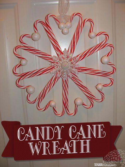 Sugar Blossoms: DIY: Candy Cane Wreath