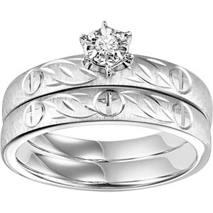 Forever Bride 1/20 Carat T.W. Diamond Sterling Silver Bridal Set