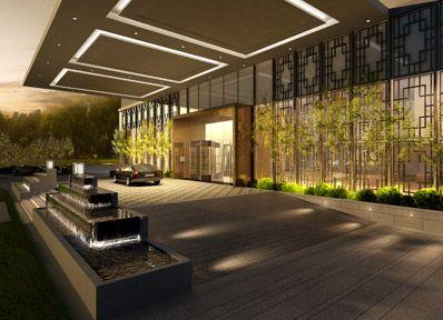 80 best hotel landscape images on pinterest luxury for Hotel entrance design