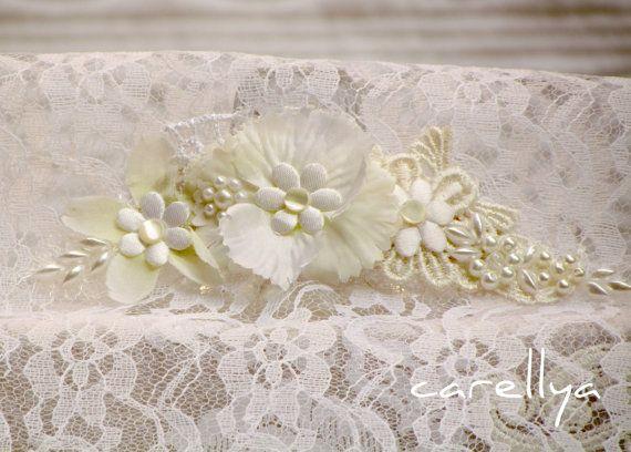 Свадебные кружева волос шт - Слоновая Кость Цветочный головной убор - Аксессуары Свадебная прическа - SHIMRAT