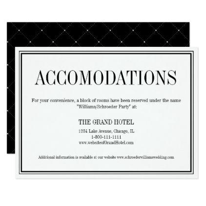Top Best Accommodations Card Ideas On Pinterest Wedding
