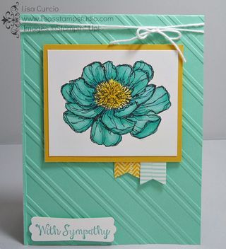 Looks real, huh?  It's all in the markers - the new Blendabilities by Stampin' Up! will make you look like a pro! Bloom with Hope, Baker's Twine, Modern Label punch