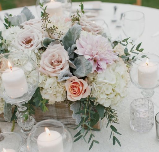 Featured Photographer: Aaron Young Photography; wedding centerpiece idea