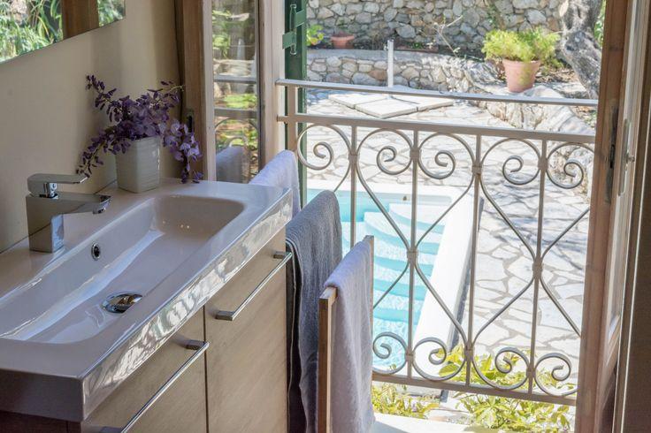 Interior design of villa Pergola! Bathroom details. Lefkada, Ionian Islands, Greece #islandlife #booknow