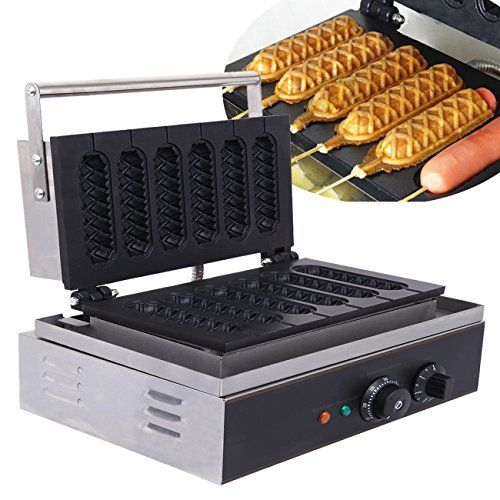 Ridgeyard Lolly Waffle Maker 1550W Sausage Waffle Maker 5 Pcs Non-stick Waffle Maker Commercial Waffle Dog Machine Great Christmas Present for Snack Bar Home.