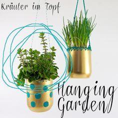 Kraeutergarten aus Plastikflaschen inkl. Anleitung / Hanging garden made of plastic bottles incl. tutorial / Upcycling