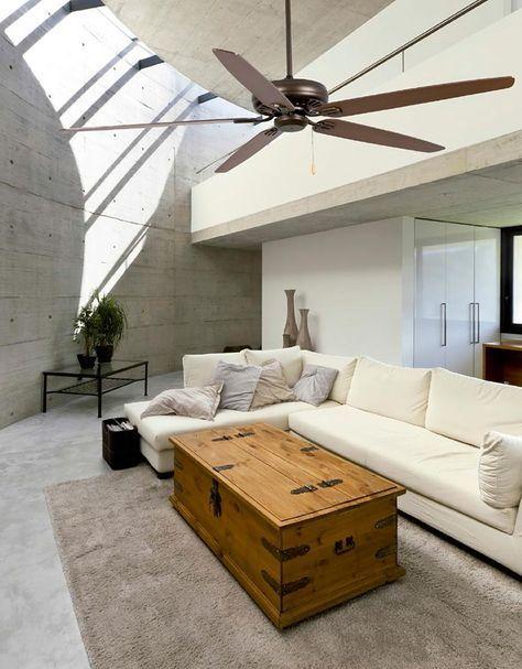 Ventilador de techo marrón NISOS ambiente
