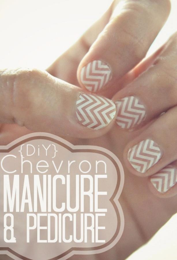 DiY Chevron Manicure & Pedicure.  Super easy tutorial!