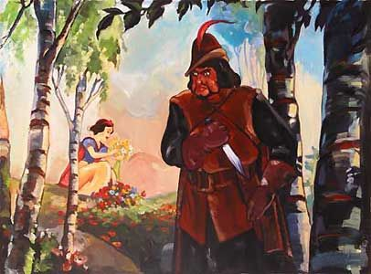 Snow White and the Seven Dwarfs - An Evil Task - Jim Salvati - World-Wide-Art.com - $450.00 #Disney #JimSalvati