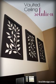 Vaulted ceiling decor on Pinterest
