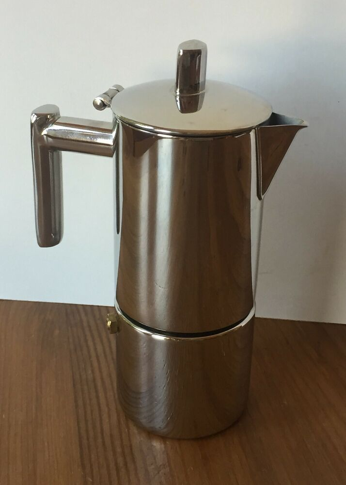Stainless Steel Stovetop Espresso Makers One Cup by Ilsa