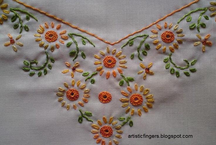 artisticfingers: Shisha(mirror) embroidery