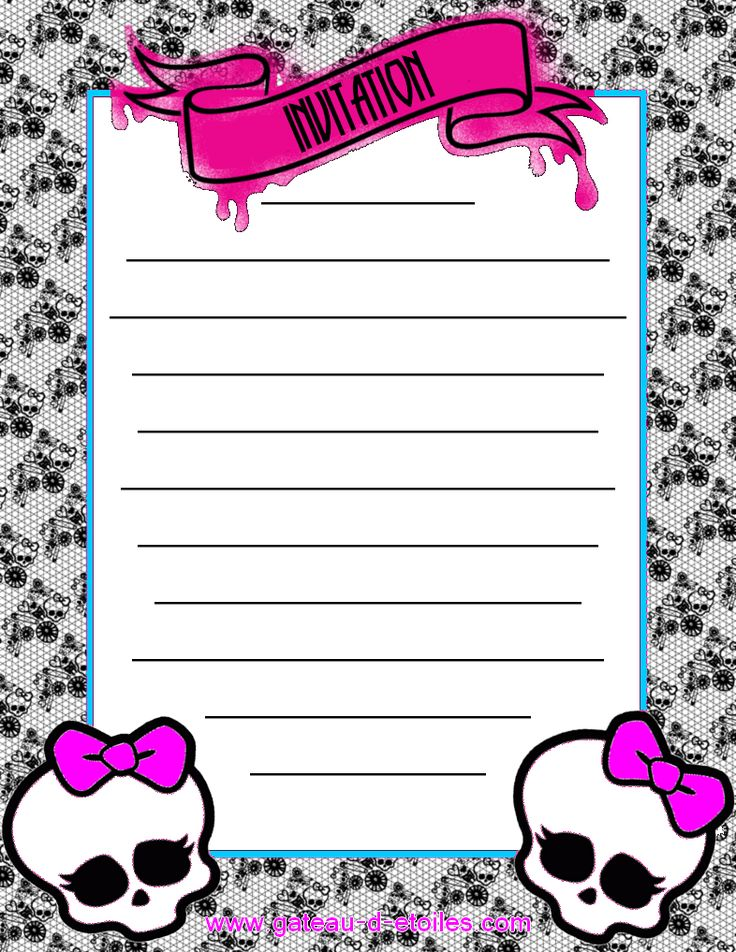 Mini Kit Monster High Rosa | Ideas y material gratis para fiestas y celebraciones Oh My Fiesta!