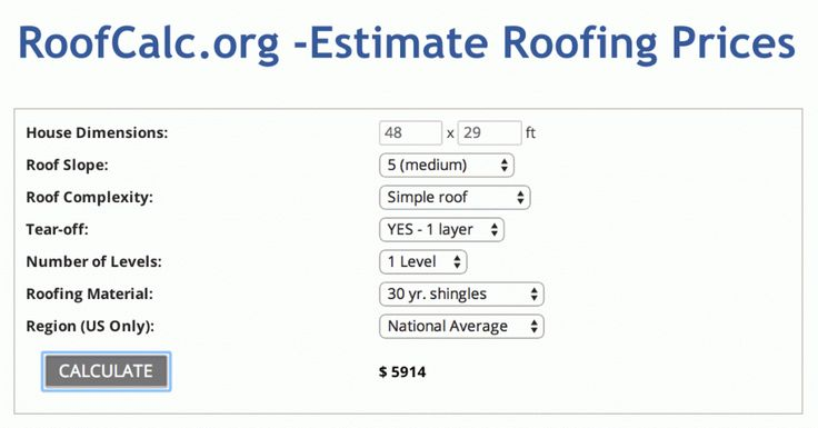 25 best roofing images on pinterest calculator beams for Cost to roof a house calculator