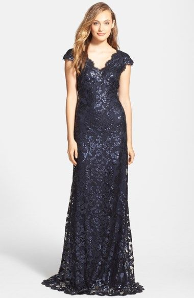 Tadashi Shoji Sequin Lace Gown (Regular & Petite) available at #Nordstrom