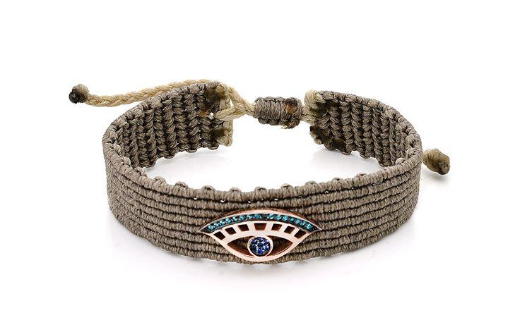 Βραχιόλι με γαλάζια και μπλε cz από ροζ επιχρυσωμένο ασήμι 925.  Bracelet with light blue and blue cz made by rose gold-plated silver 925 Price: 105 €